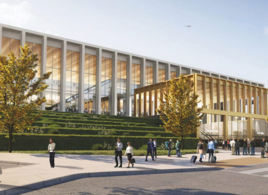 Leeds Bradford Airport - Visualisation of the proposed new terminal building